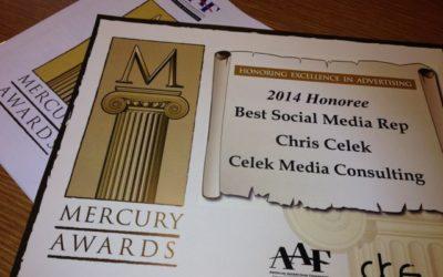 Mercury Awards 2014 Social Media Rep Chris Celek